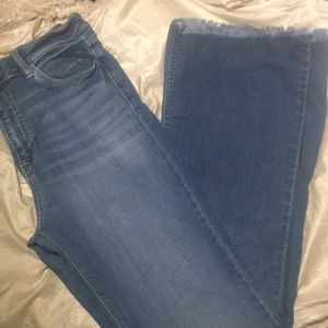 Cello jeans size 13 with fray bottoms & stretch